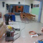 εσωτερική επισκευή χώρου εκδηλώσεων σχολείου